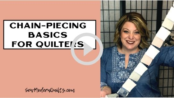 Chain-piecing for quilters video tutorial