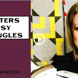 Easy Triangles Video Tutorial - Sew Modern Quilts - Amy Ellis