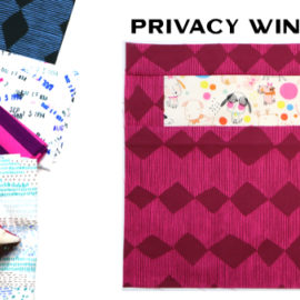 Modern Quilt Block Series - Privacy Window Block Pattern by Amy Ellis