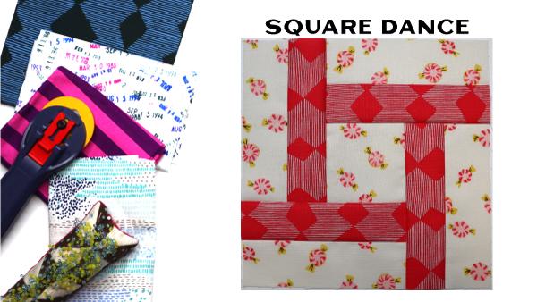 Modern Quilt Block Series - Square Dance Block Pattern by Amy Ellis