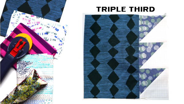 Modern Quilt Block Series - Triple Third Block Pattern by Amy Ellis