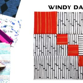 Modern Quilt Block Series - Windy Day Block Pattern by Amy Ellis