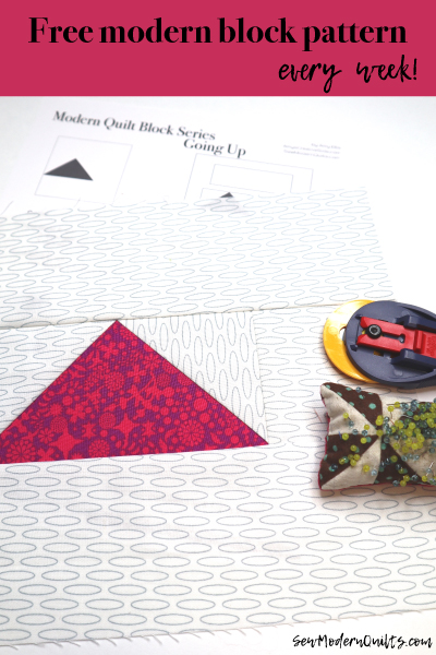 Modern Quilt Block Series - Going Up Block Pattern by Amy Ellis
