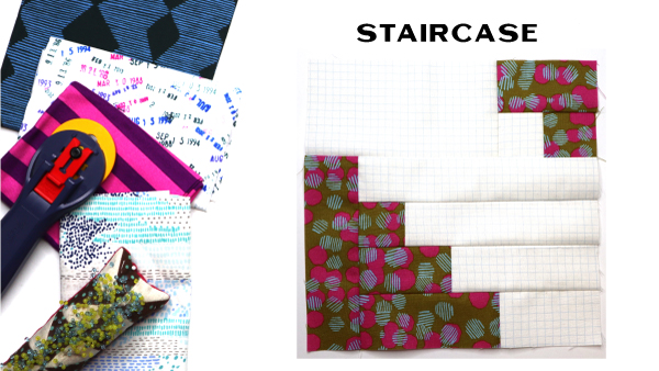 Staircase Block by Amy Ellis for Modern Quilt Block Series
