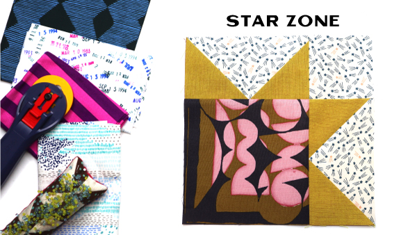 Star Zone Block by Amy Ellis for Modern Quilt Block Series
