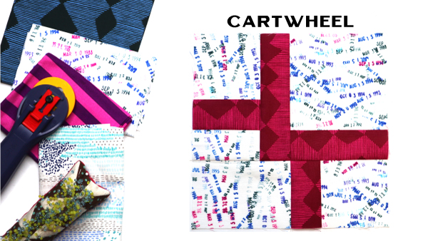 Cartwheel Block by Amy Ellis for Modern Quilt Block Series