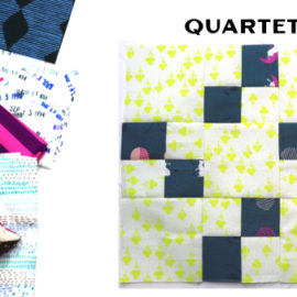 Quartet Block by Amy Ellis for Modern Quilt Block Series
