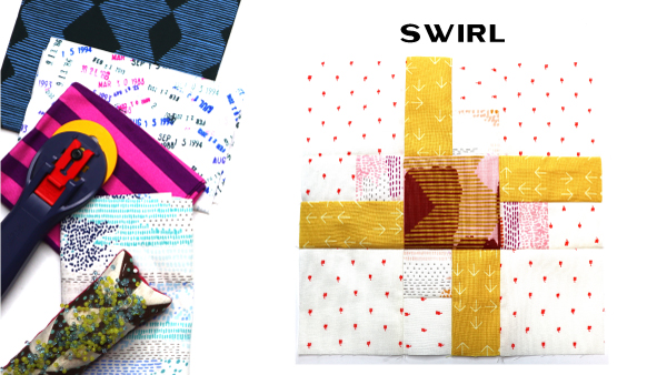 Swirl Block by Amy Ellis for Modern Quilt Block Series