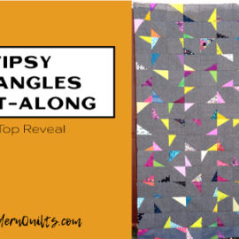 Tipsy Triangles Quilt-Along with Amy Ellis; Quilt Top Reveal!
