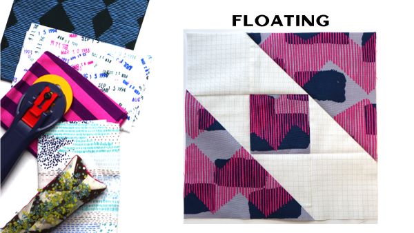Floating Block by Amy Ellis for Modern Quilt Block Series