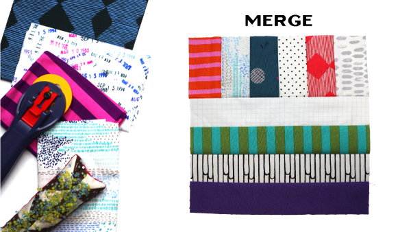Merge Block by Amy Ellis for Modern Quilt Block Series