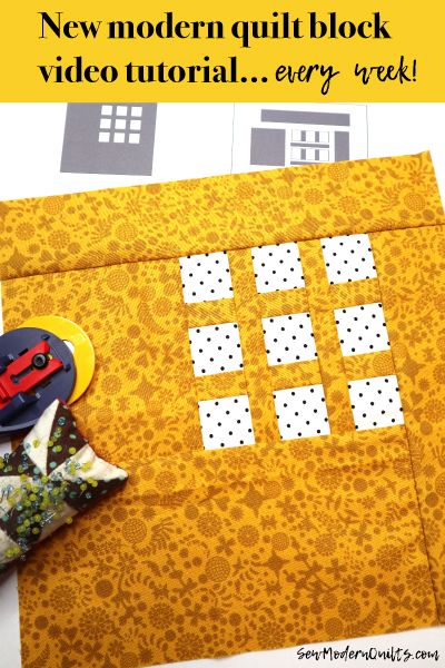 Three Squared Block by Amy Ellis for Modern Quilt Block Series