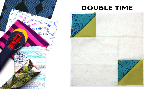 Double Time Block: Modern Quilt Block Series