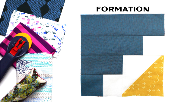 Formation Block by Amy Ellis for Modern Quilt Block Series