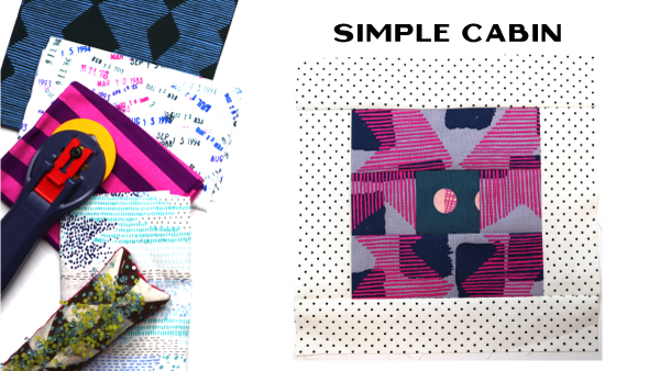 Simple Cabin Block by Amy Ellis for Modern Quilt Block Series