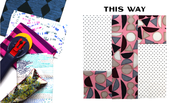 This Way Block by Amy Ellis for Modern Quilt Block Series