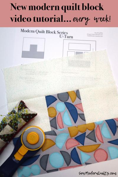 U-Turn Block by Amy Ellis for Modern Quilt Block Series