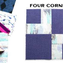 Four Corners Block by Amy Ellis for Modern Quilt Block Series
