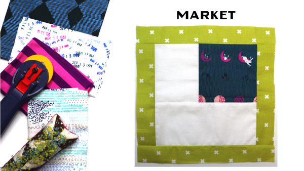 Market Block by Amy Ellis for Modern Quilt Block Series
