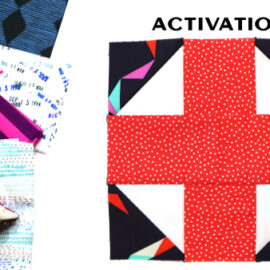 Activation Block by Amy Ellis for Modern Quilt Block Series