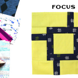 Focus Block by Amy Ellis for Modern Quilt Block Series