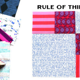 Rule of Thirds Block by Amy Ellis for Modern Quilt Block Series