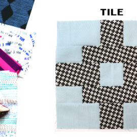 Tile Block by Amy Ellis for Modern Quilt Block Series