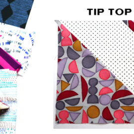 Tip Top Block by Amy Ellis for Modern Quilt Block Series