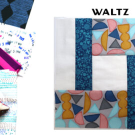 Waltz Block by Amy Ellis for Modern Quilt Block Series