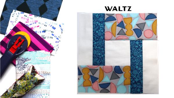 Waltz Block by Amy Ellis for Modern Quilt Block Series
