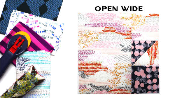 Open Wide Block by Amy Ellis for Modern Quilt Block Series