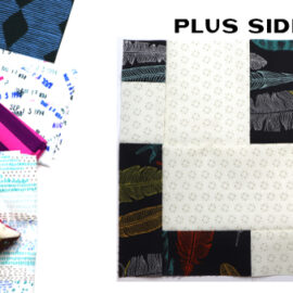 Plus Side Block by Amy Ellis for Modern Quilt Block Series
