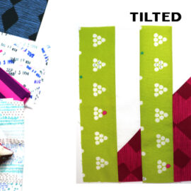 Tilted Block by Amy Ellis for Modern Quilt Block Series