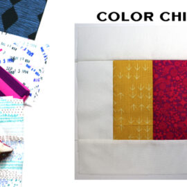 Color Chips Block by Amy Ellis for Modern Quilt Block Series