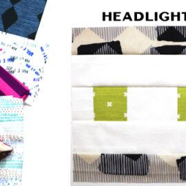 Headlights Block by Amy Ellis for Modern Quilt Block Series