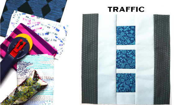 Traffic Block by Amy Ellis for Modern Quilt Block Series