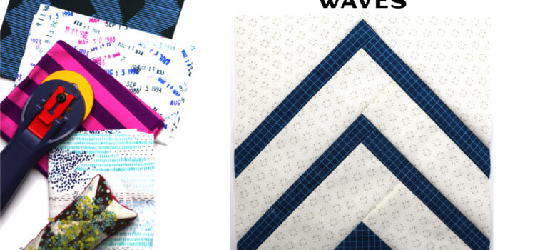 Waves Block by Amy Ellis for Modern Quilt Block Series