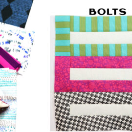 Bolts Block by Amy Ellis for Modern Quilt Block Series