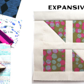 Expansive Block by Amy Ellis for Modern Quilt Block Series