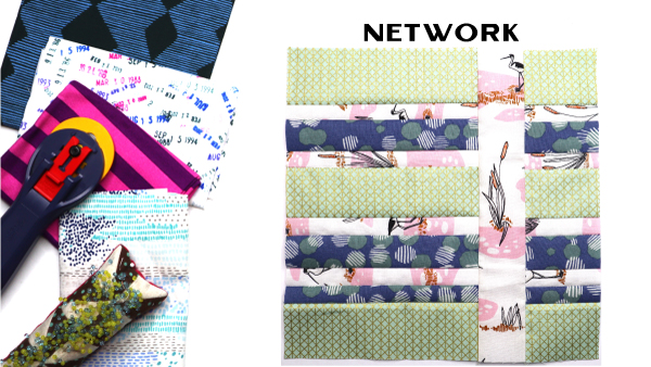 Network Block by Amy Ellis for Modern Quilt Block Series