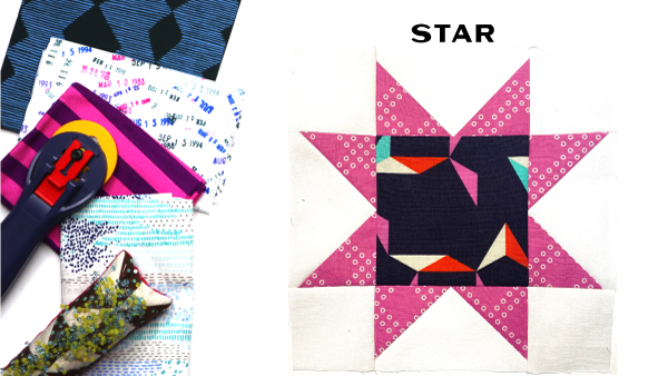 Star Block by Amy Ellis for Modern Quilt Block Series