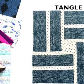 Tangle Block by Amy Ellis for Modern Quilt Block Series