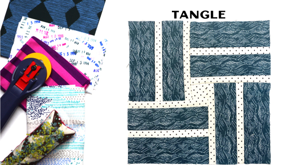 Tangle Block: Modern Quilt Block Series