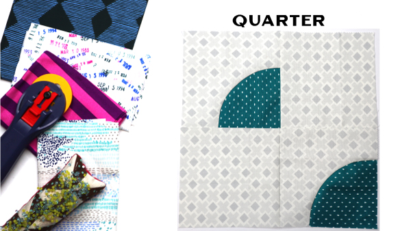 Quarter Block by Amy Ellis for Modern Quilt Block Series