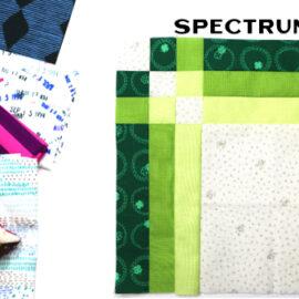 Spectrum Block by Amy Ellis for Modern Quilt Block Series
