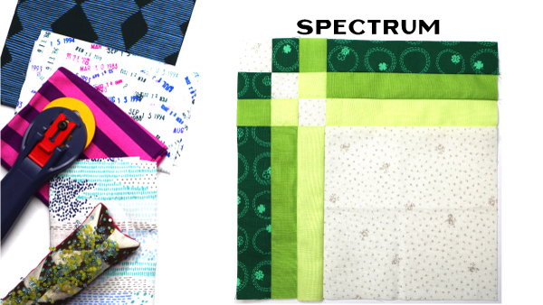 Spectrum Block: Modern Quilt Block Series