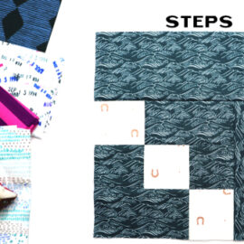 Steps Block by Amy Ellis for Modern Quilt Block Series