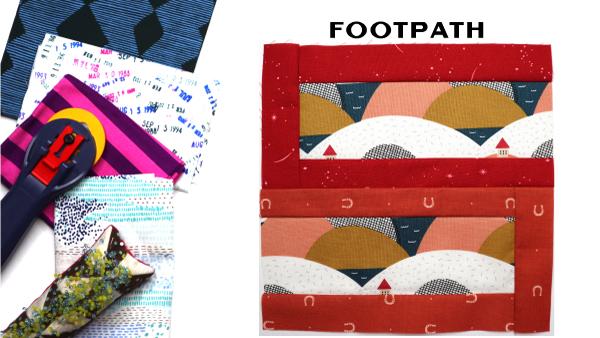 Footpath Block: Modern Quilt Block Series