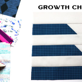 Growth Chart Block by Amy Ellis for Modern Quilt Block Series