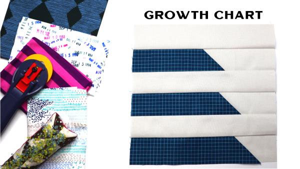 Growth Chart: Modern Quilt Block Series